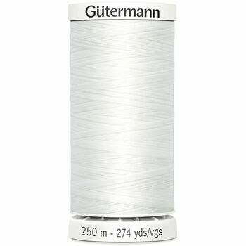 Gutermann White Sew-All Thread: 250m (800)