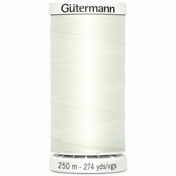 Gutermann Ivory White Sew-All Thread: 250m (111)