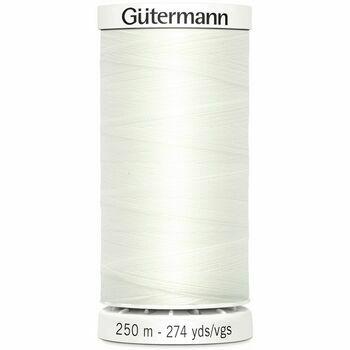 Gutermann White Sew-All Thread: 250m (111)