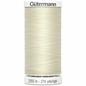 Gutermann Cream Sew-All Thread: 250m (802)