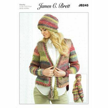 Knitting Pattern James C Brett JB314 Children/'s Chunky Jumper /& Cardigan