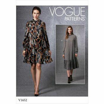 Vogue Pattern V1652 Misses' Dress