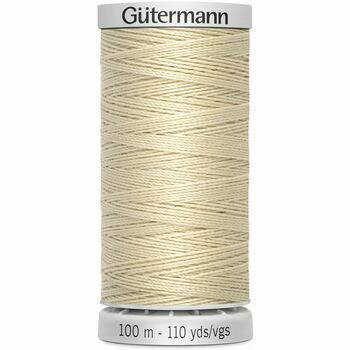 Gutermann Cream Extra Strong Upholstery Thread - 100m (414)