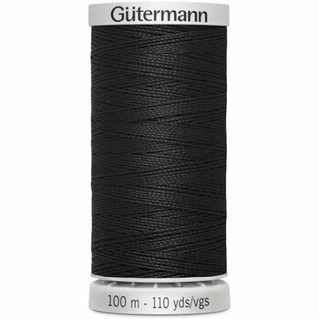 Gutermann Extra Strong Upholstery Thread: Black: 100m