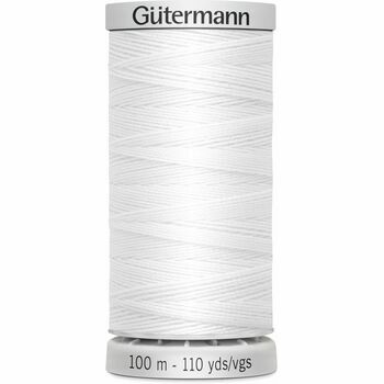 Gutermann White Extra Strong Upholstery Thread - 100m