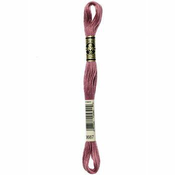 DMC: Mouliné Special 25: Colour 3687: Stranded Cotton: 8m