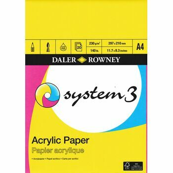 Daler Rowney System 3 Acrylic Paper A4 Pad