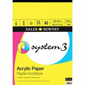 Daler Rowney System 3 Acrylic Paper Pad A3