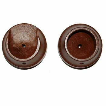 Hallis 35mm Woodline Rosewood Wood Recess Bracket (Pack of 2)