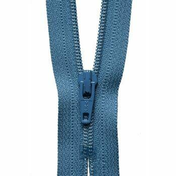 YKK Nylon Dress and Skirt Zip - Slate Blue (41cm)