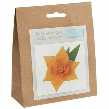 Trimits Daffodil Brooch Felt Decoration Kit