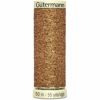 Gutermann Metallic Effect Thread: 50m: Col. 36