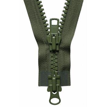Vislon Heavy Two-Way Open End Zip: 71cm: Khaki