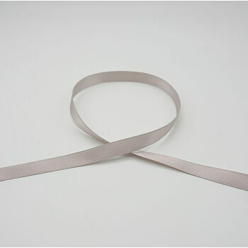 Berisfords: Double Faced Satin Ribbon: 10mm: Silver Grey