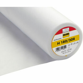 Vilene EasyFuse Light Ultrasoft Iron-On (H180/308) - 90cm (White) - Per metre