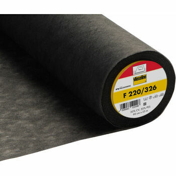 Vilene Iron-On Interlining Standard Medium - 90cm (Dark Grey) - Per metre