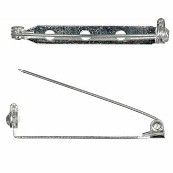 Trimits Brooch Bars - Silver: 38mm: Pack of 2