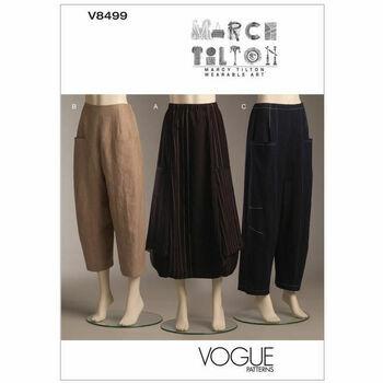 Vogue pattern V8499 Misses' Deep-pocket Skirt and Pants