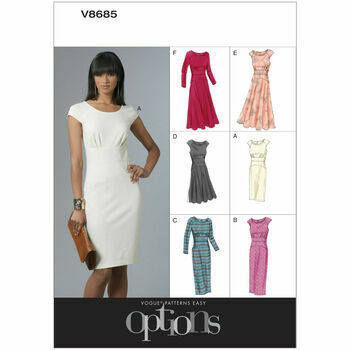 Vogue Pattern V8685 Misses' Empire-Waist Dresses