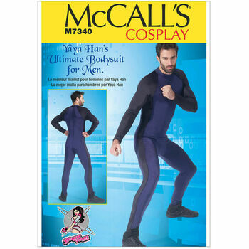 McCall\'s Sewing Pattern M7340 Men\'s Zippered Bodysuit (Mens Cosplay Costumes)