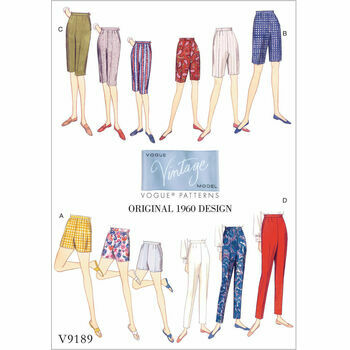Vogue pattern V9189 Misses\' Shorts and Tapered Pants