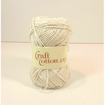 James C Brett Craft Cotton - Ecru (100g)