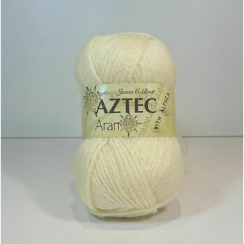 James C Brett Aztec Aran with Alpaca - Buttermilk - AL2 (100g)