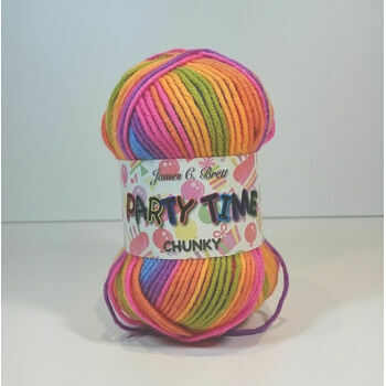 James C Brett Party Time Chunky - PT6 (100g)