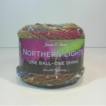 Brett Northern Lights One Ball - One Shawl DK - NL5 (150g)