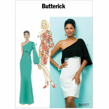 Butterick Pattern B6557 Misses\' One Shoulder Dress