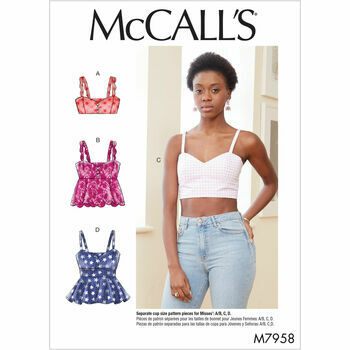 McCall's Pattern M7958: Misses' Tops