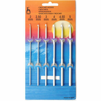 Pony Aluminium Crochet Hooks (6 Assorted Sizes) - 2mm - 5mm