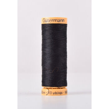 Gutermann Black Natural Cotton Thread: 100m (5201)