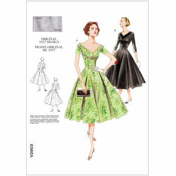 Vogue 1957 Vintage Dress Pattern V2903