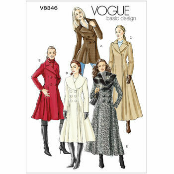 Vogue Pattern V8346 Misses\' Double-breasted Coats