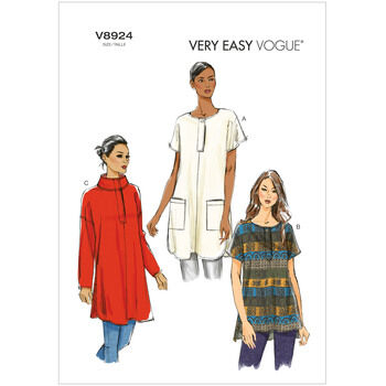 Vogue Pattern V8924 Misses' Drop-shoulder Tunics