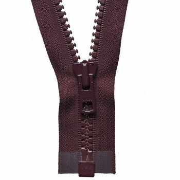 YKK Vislon Heavyweight Open End Zip - Burgundy (71cm)