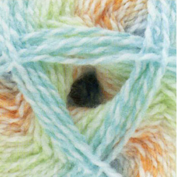 Baby Marble Yarn - Blue, Green and Orange (100g)
