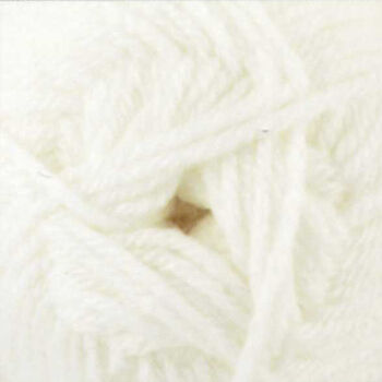 Chunky with Merino Yarn - White - CM1 (100g)