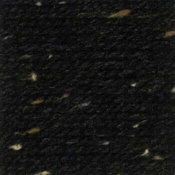 Rustic Aran Tweed Yarn - Black (400g)