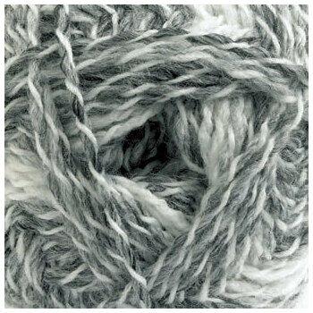 Marble DK Yarn - White & grey (100g)
