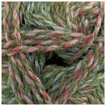 Marble DK Yarn - Green & Rose (100g)