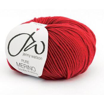Pure Merino Yarn - Ruby (50g)