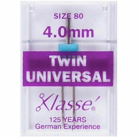 Klasse: Sewing Machine Needles: Twin Universal: 80/4mm: 1 Piece
