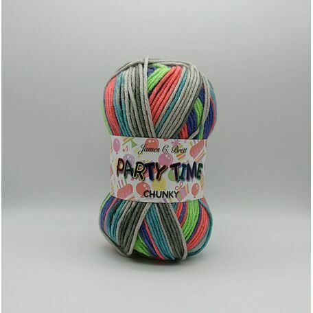 Party Time Chunky Yarn: PT12: 100g