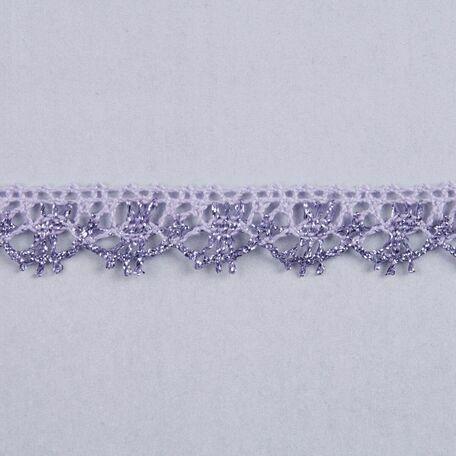 Essential Trimmings Metallic Lace Trimming - 15mm (Lilac) Per metre
