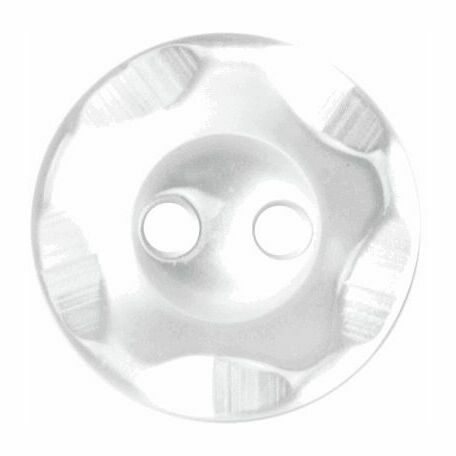 Star Imprint Button: 14mm: White