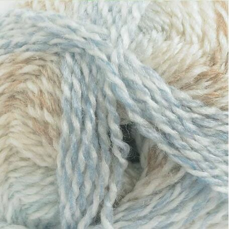 Baby Marble Yarn - Pastel, Blue and Brown (100g)