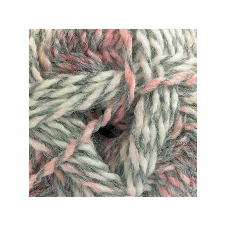 Marble DK Yarn - Pink, Grey & White (100g)
