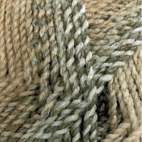 Marble Chunky Yarn- Light brown and grey (200g)